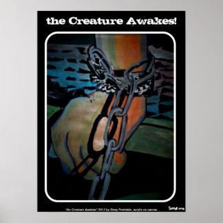 a criatura acorda Poster de Frankenstein