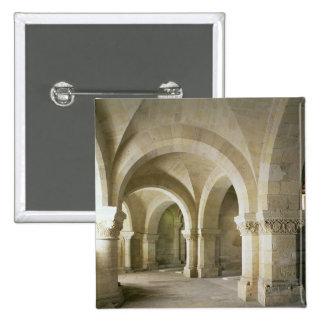 A cripta, c.1144 (foto) bóton quadrado 5.08cm