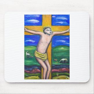 A crucificação pastoral (tema da cristandade) mouse pads