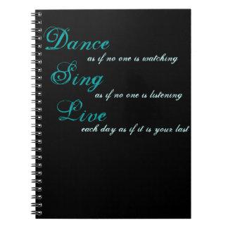 A dança canta vivo… cadernos