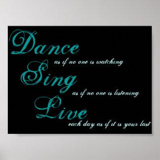 A dança canta vivo… poster
