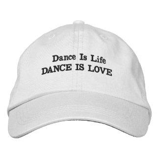 A dança é chapéu do amor boné bordado