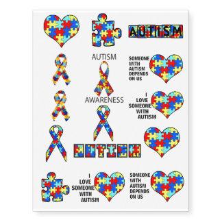 A defesa do apoio da consciência do autismo educa