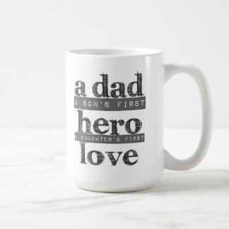 A definição de uma caneca de café do pai