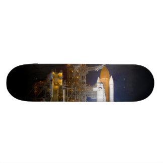 A descoberta do vaivém espacial na plataforma de l shape de skate 18,4cm