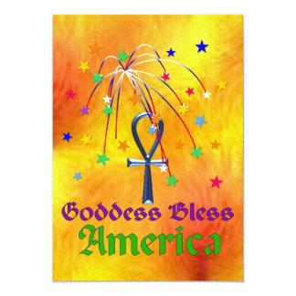 A deusa abençoa América Convite 12.7 X 17.78cm