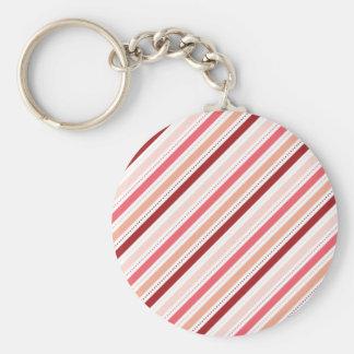 A diagonal vermelha e cor-de-rosa listra o present chaveiro