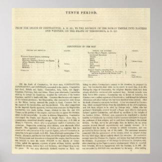 A divisão Do ANÚNCIO 2 do império romano 395 Posters