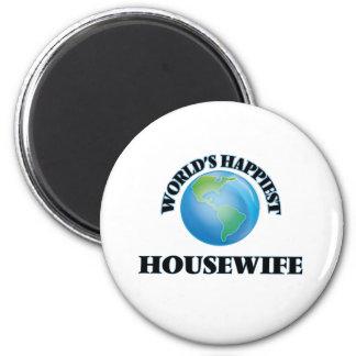 A dona de casa a mais feliz do mundo ímã redondo 5.08cm