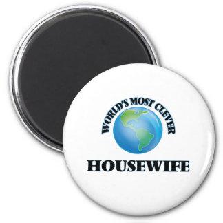 A dona de casa a mais inteligente do mundo imãs de geladeira