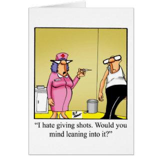 A emergência engraçada nutre o cartão do dia