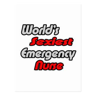A enfermeira a mais sexy da emergência do mundo cartao postal
