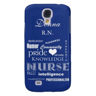 A enfermeira Orgulho-Personaliza o nome/mirtilo Galaxy S4 Cases