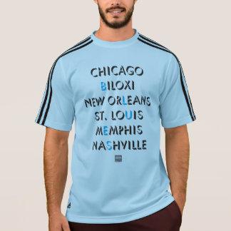 A engrenagem dos homens dos azuis de Chicago Camiseta