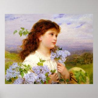 A época dos Lilacs por Sophie Anderson Pôsteres