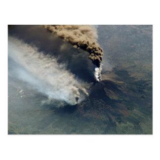 A erupção vulcânica de Monte Etna em 2002 Cartão Postal