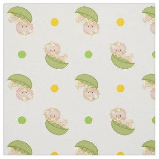 A ervilha doce no bebé do vagem & as bolinhas tecido