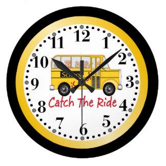 A escola é auto escolar legal relógio de parede
