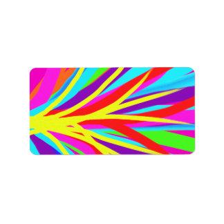 A escova de pintura colorida vívida afaga a arte etiqueta de endereço