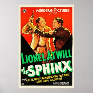 A esfinge - cartaz cinematográfico 1933 do vintage pôster