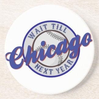 A espera do logotipo dos esportes do basebol de porta copos de arenito