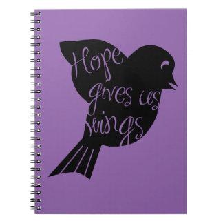 A esperança dá-nos as asas 2 caderno espiral