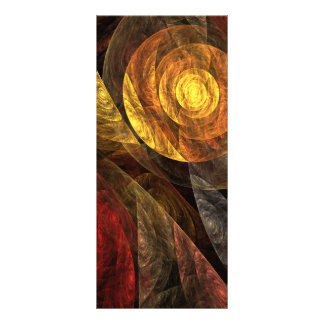 A espiral do cartão da cremalheira da arte 10.16 x 22.86cm panfleto