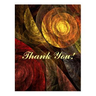 A espiral do obrigado da vida você cartão cartão postal