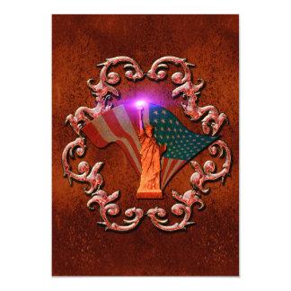 A estátua da liberdade convite 12.7 x 17.78cm