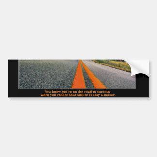 A estrada ao sucesso adesivo para carro