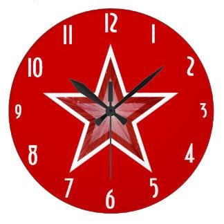 """A estrela vermelha """"numera"""" o pulso de disparo relógios para pendurar"""