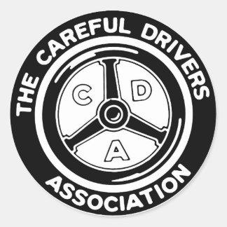 A etiqueta cuidadosa da associação dos motoristas adesivo