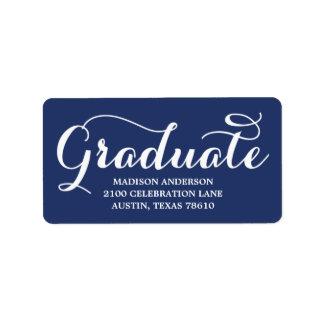 A etiqueta de endereço a mais doce da graduação do