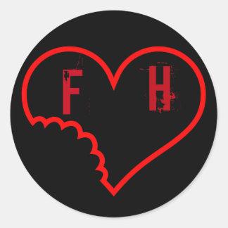 A etiqueta desvanecida do oficial dos corações adesivo
