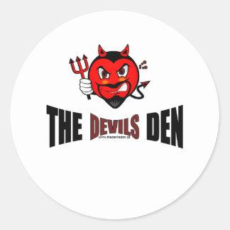 A etiqueta do antro dos diabos adesivo