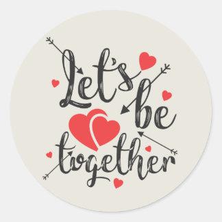A etiqueta dos namorados - deixe-nos ser junto