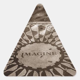 A etiqueta NYC imagina o Central Park de Adesivo Triangular
