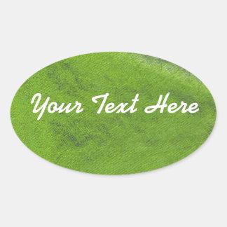 A etiqueta oval Pastel | do óleo verde personaliza
