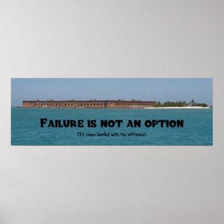 A falha não é uma opção poster