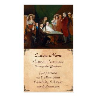 A família do Infante Don Luis Francisco Goya Cartão De Visita