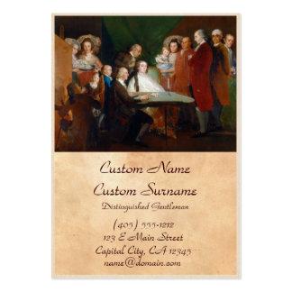A família do Infante Don Luis Francisco Goya Cartão De Visita Grande