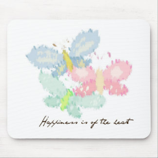 A felicidade é das borboletas do coração mousepad