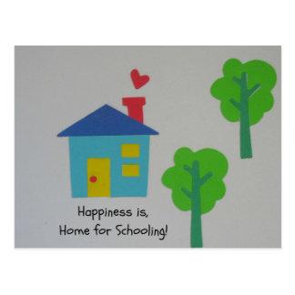 A felicidade é Home para educar! Cartão Postal