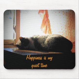 A felicidade é meu tempo quieto mouse pad