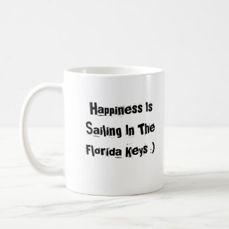 A felicidade está navegando nas chaves de Florida Caneca