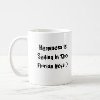 A felicidade está navegando nas chaves de Florida Caneca De Café