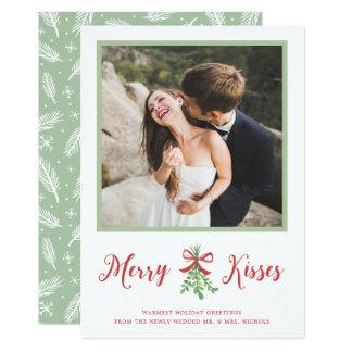 A feliz beija o cartão com fotos do feriado convite 12.7 x 17.78cm