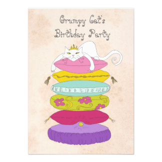 A festa de aniversário do gato mal-humorado convid convite