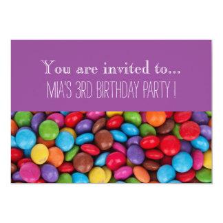 A festa de aniversário do miúdo do chocolate dos convite 12.7 x 17.78cm