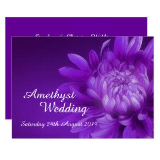 A festa de casamento Amethyst convida a 3á Convite 11.30 X 15.87cm